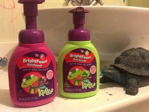 Kandoo soap is fun for kids and turtles