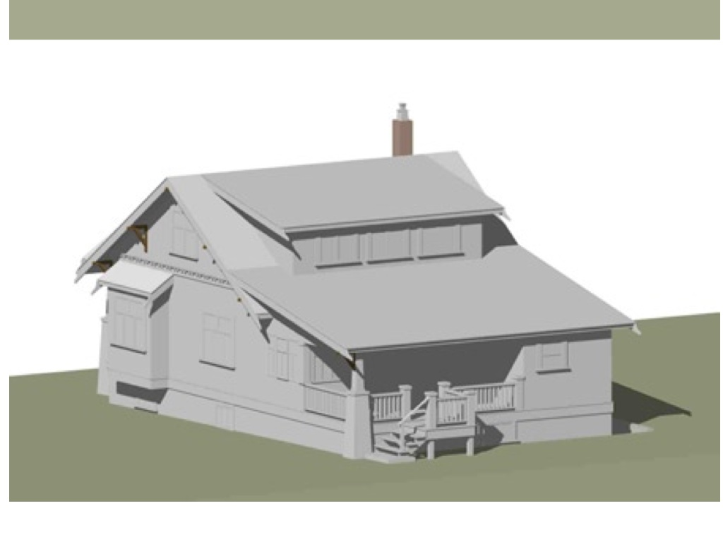 A computer model of what the house will look like looking Nortwest