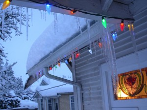 Pretty icicles mean a badly insulated roof