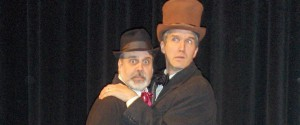 Mark Carter as Watson and James Rowley as Sir. Henry in The Hound of The Baskervilles, 2013