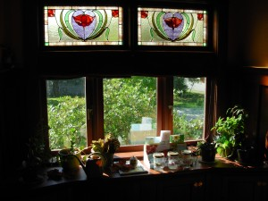 The dining room window faces south, too.