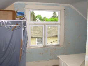 The north upstairs room in 2007 - now the boy's room