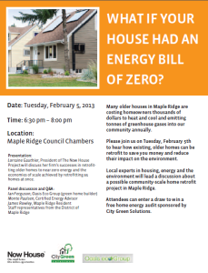 Now House Project Presentation Poster - Feb.5, 2013.