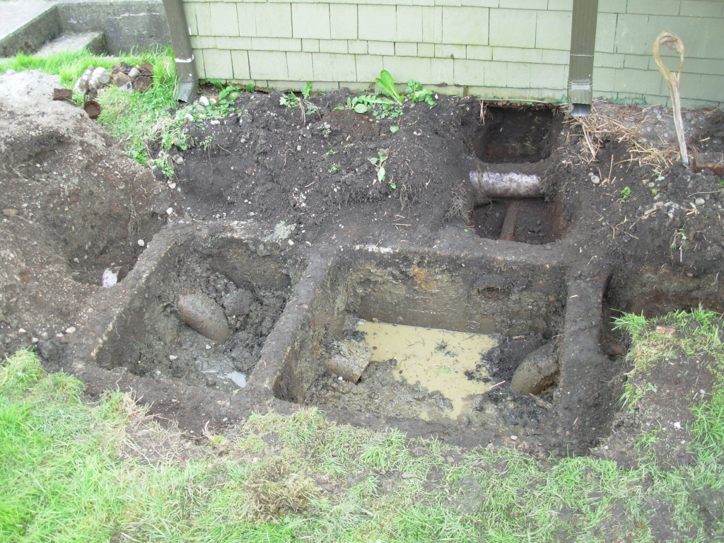 Definitely a septic tank--NOT a hot tub!