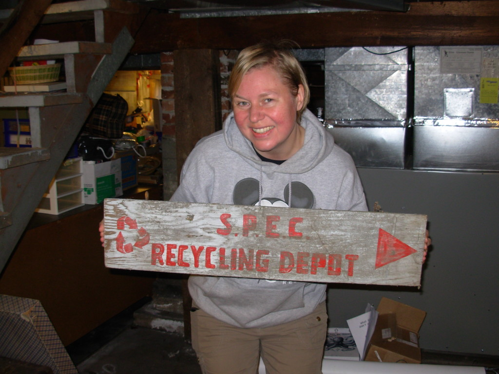 One of the pieces of history we found: the original sign