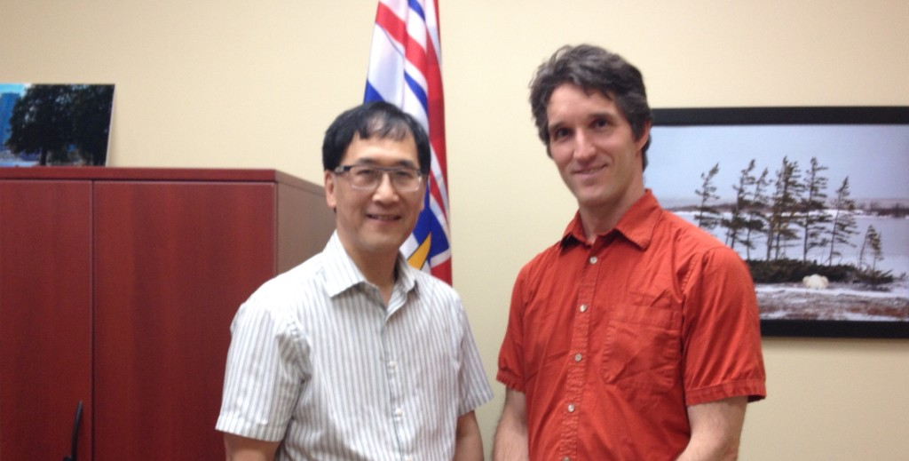 Dr. Doug Bing, MLA and James Rowley, Eco-Warrior