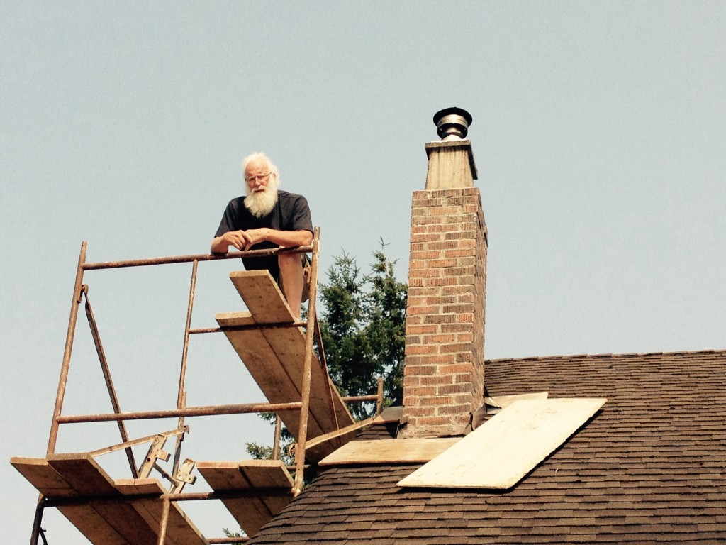 Santa AKA Ron the neighbour who knows everything about chimneys
