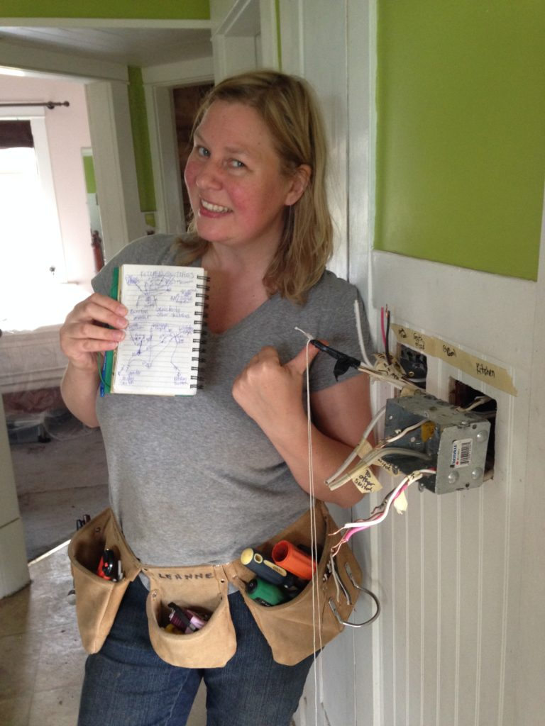 Leanne shows you her sketch of what's going on in them there switch boxes.